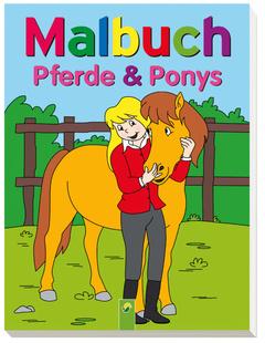 """Cover des Buches """"Malbuch Pferde und Ponys"""""""
