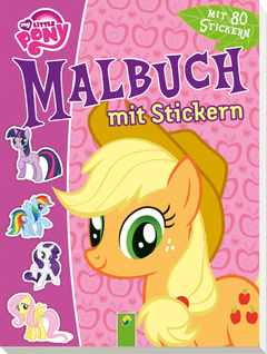 "Cover des Buches ""My little Pony - Malbuch mit Stickern"""