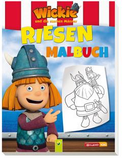 """Cover des Buches """"Wickie Riesenmalbuch"""""""