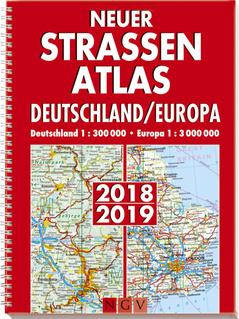 """Cover des Buches """"Neuer Straßenatlas Deutschland/Europa 2018/2019"""""""