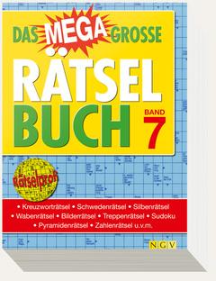 "Cover des Buches ""Das megagroße Rätselbuch – Band 7"""