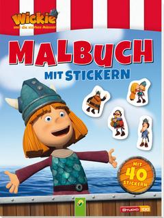 """Cover des Buches """"Wickie und die starken Männer - Malbuch mit Stickern"""""""