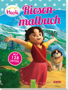 """Cover des Buches """"Heidi Riesenmalbuch"""""""